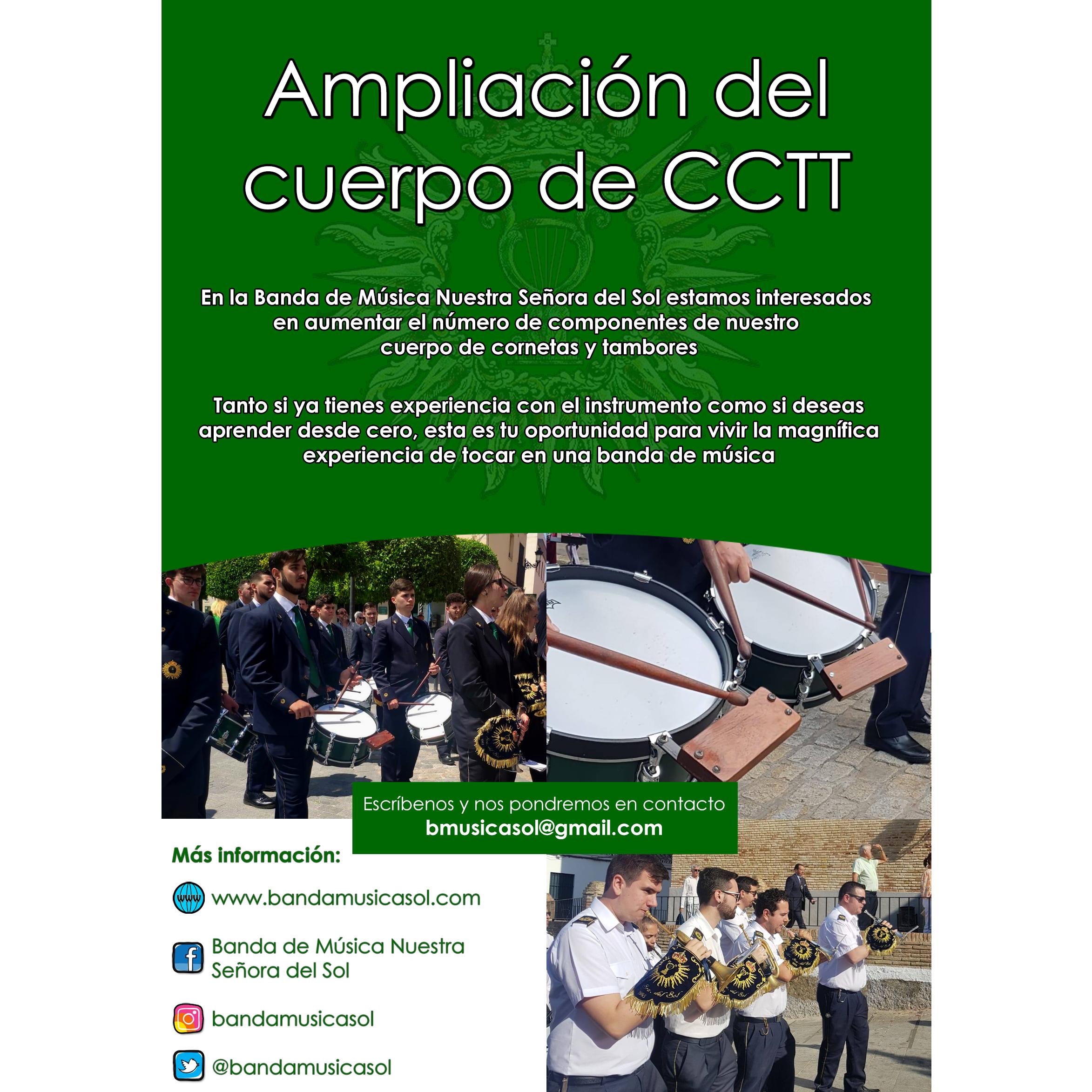 Ampliación del cuerpo de CCTT