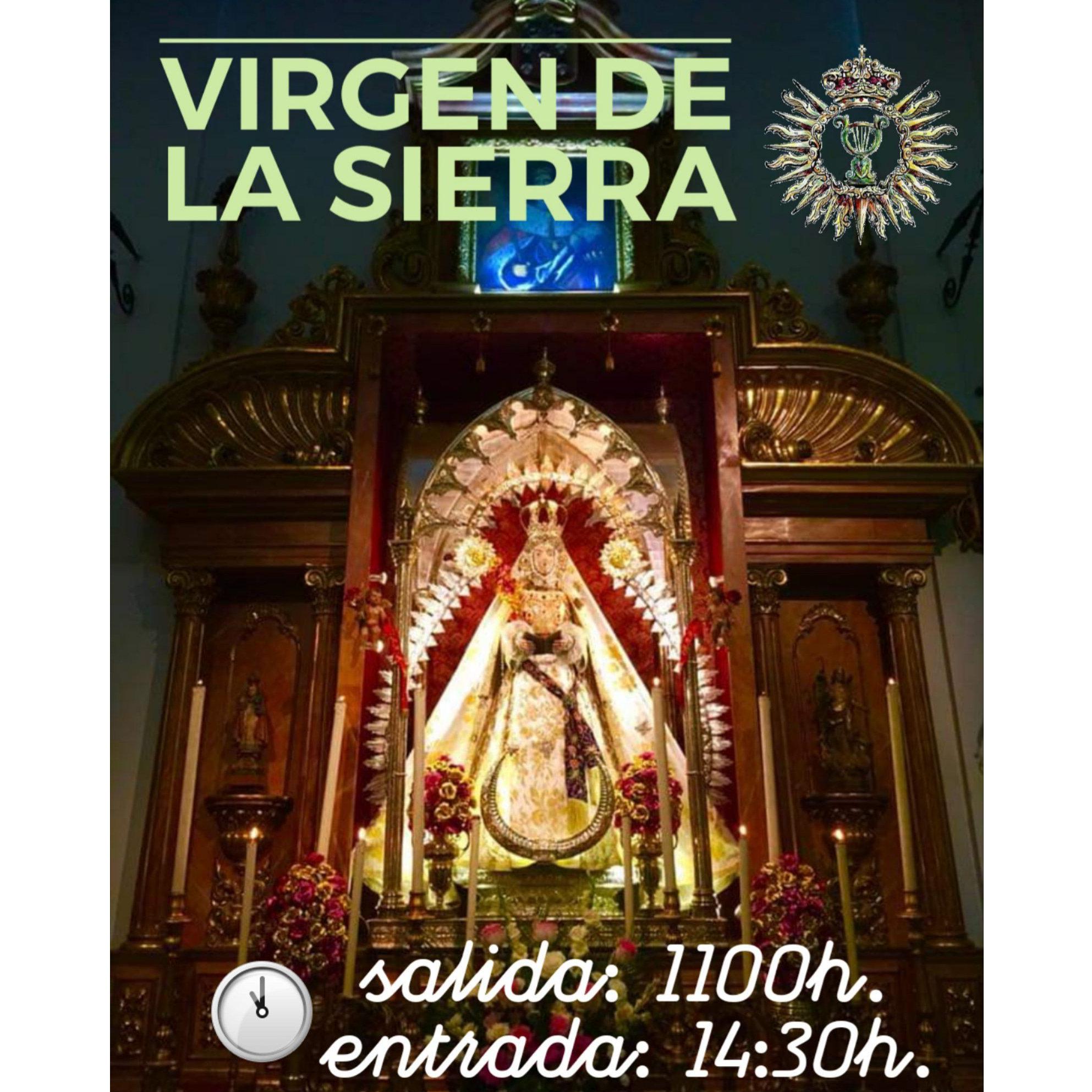 Salida Procesional de la Virgen de la Sierra